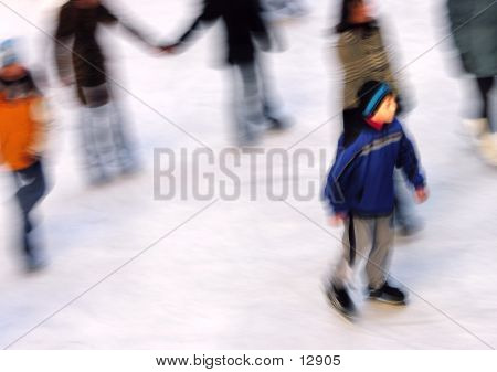 Skating In A Blue Coat