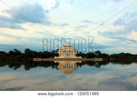 View of Jefferson Memorial in Washington D.C. from across the Tidal Basin