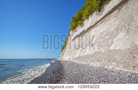 Chalk Cliff On The Rugen Island, Germany.