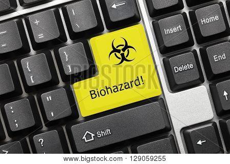Conceptual Keyboard - Biohazard (yellow Key)