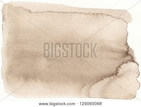the faded sepia brown tones watercolor background
