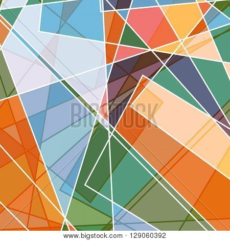 Retro styled abstract design background