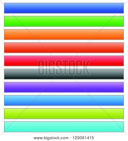 Set Of Banner, Button, Plaque Backgrounds (10 Colors)