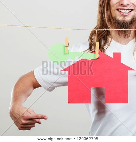 Man Seller With House Model
