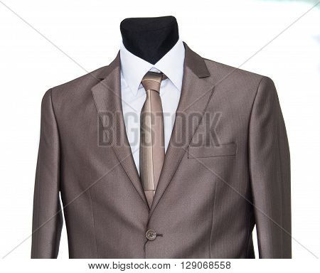 men's business suit on a white background