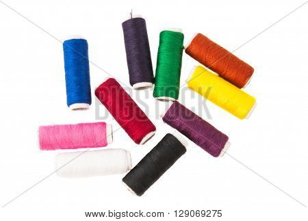 color thread isolated on white background knitting, leisure,
