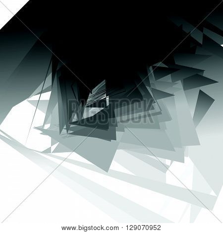 Artistic Geometric Image - Random Angular, Edgy Shapes Overlapping. Modern Geometric Art Illustratio