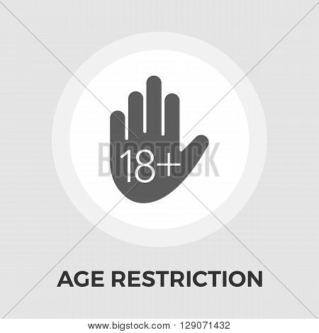 Age restriction Icon Vector. Flat icon isolated on the white background. Editable EPS file. Vector illustration.