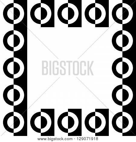 Geometric Picture, Photo Frame In Squarish Format.