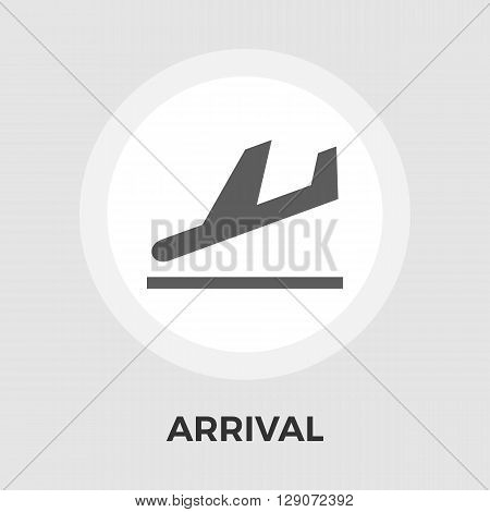 Departure icon vector. Flat icon isolated on the white background. Editable EPS file. Vector illustration.