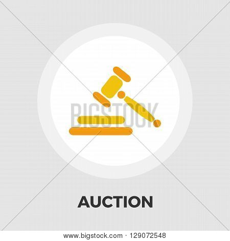 Auction gavel icon vector. Flat icon isolated on the white background. Editable EPS file. Vector illustration.