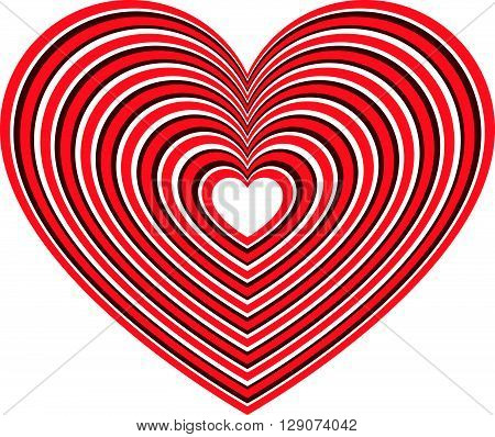 Geometric Contour Heart Shape