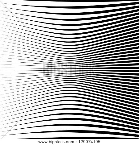 Abstract Geometric Pattern With Squeezed-compressed Distortion Effect
