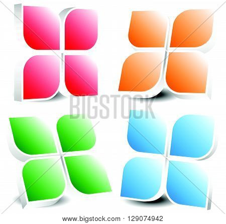 Generic Icon, Design Element In Four Colors