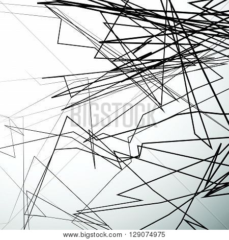 Abstract Edgy Lines Artistic Grayscale Background