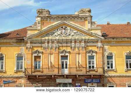 TIMISOARA, ROMANIA - JULY 29, 2015: baroque palace