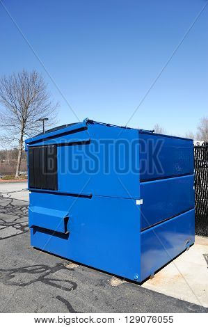trash container outdoors, industrial waste for recycling