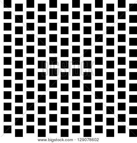 Repeatable Pattern With Squares. Geometric Cellular Grid, Mesh Pattern.