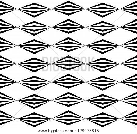 Abstract Twisted Geometric Pattern - Seamlessly Repeatable Edgy Monochrome Background.