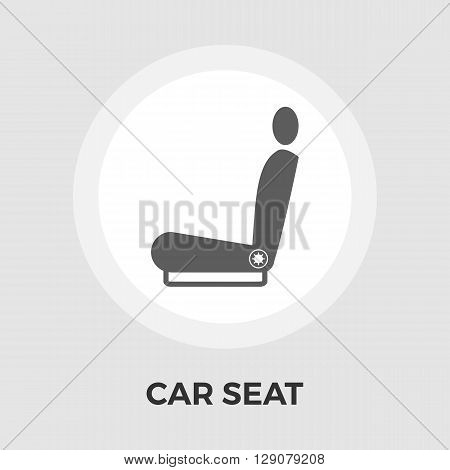 Seat icon vector. Flat icon isolated on the white background. Editable EPS file. Vector illustration.