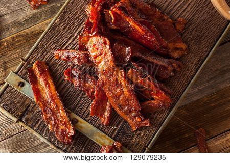 Homemade Dried Barbecue Bacon Jerky