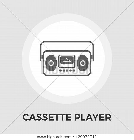 Boom box icon vector. Flat icon isolated on the white background. Editable EPS file. Vector illustration.