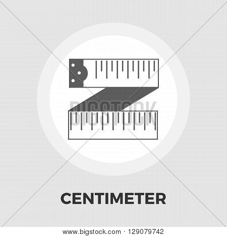 Centimetr icon vector. Flat icon isolated on the white background. Editable EPS file. Vector illustration.