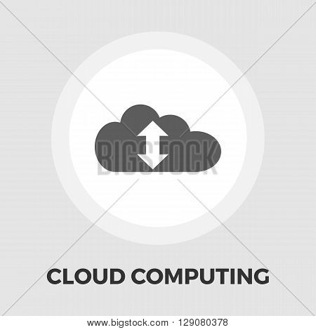 Cloud computing icon vector. Flat icon isolated on the white background. Editable EPS file. Vector illustration.