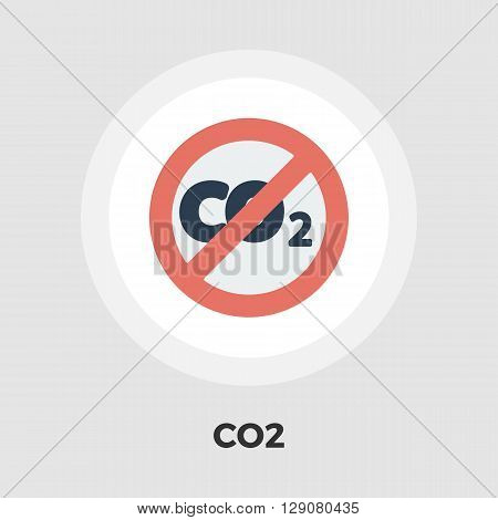 CO2 icon vector. Flat icon isolated on the white background. Editable EPS file. Vector illustration.
