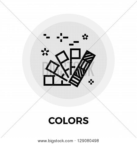 Colors Icon Vector. Flat icon isolated on the white background. Editable EPS file. Vector illustration.
