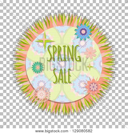 Bright Isolated Easy Editable Frame With Cute Flowers. Concept Design  Spring Sale  Banner, Postcard