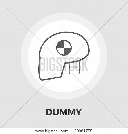 Dummy head for crash test icon vector. Flat icon isolated on the white background. Editable EPS file. Vector illustration.