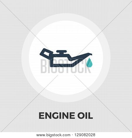 Engine oil icon vector. Flat icon isolated on the white background. Editable EPS file. Vector illustration.