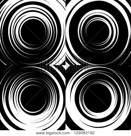 Set Of Concentric Abstract Circular Backgrounds.