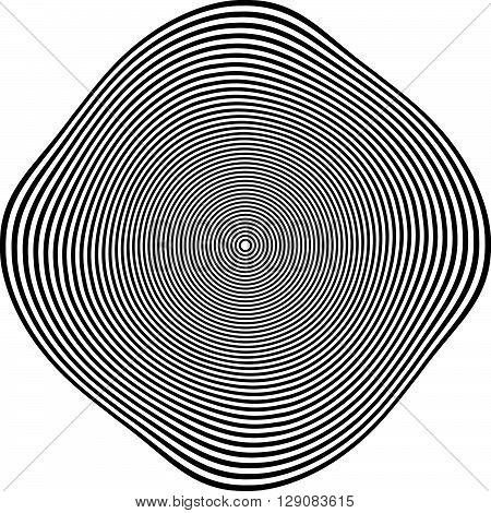 Circular Shape With Spiral, Vortex Distortion Effect