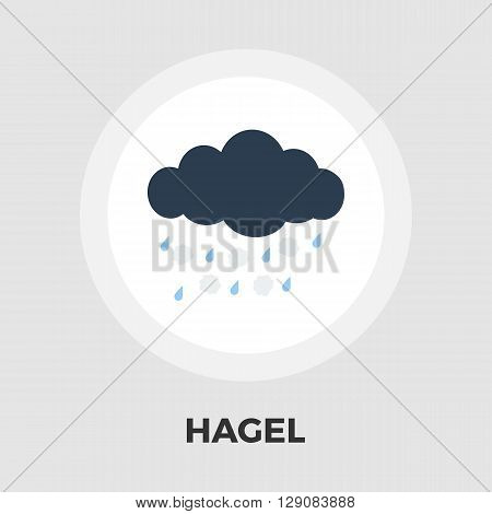 Hagel icon vector. Flat icon isolated on the white background. Editable EPS file. Vector illustration.