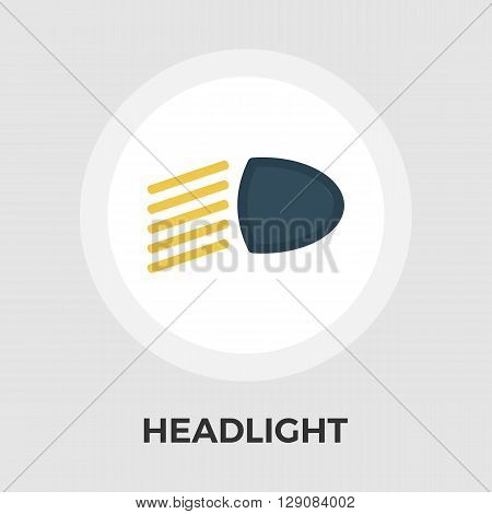Headlight icon vector. Flat icon isolated on the white background. Editable EPS file. Vector illustration.