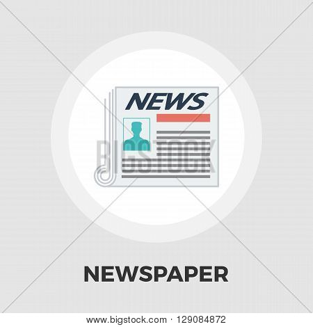 Newspaper icon vector. Flat icon isolated on the white background. Editable EPS file. Vector illustration.