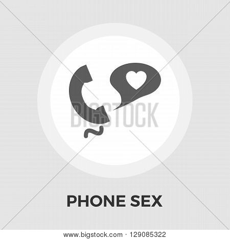 Phone sex icon vector. Flat icon isolated on the white background. Editable EPS file. Vector illustration.