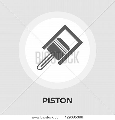 Piston. icon vector. Flat icon isolated on the white background. Editable EPS file. Vector illustration.