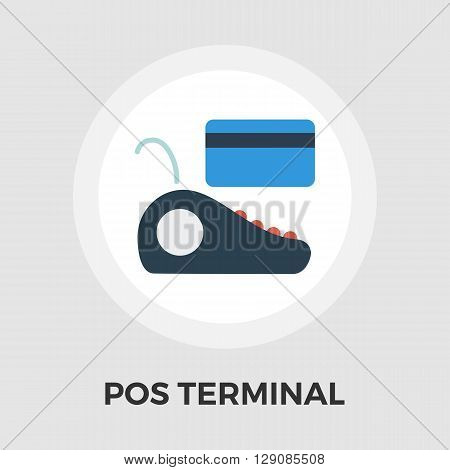 POS terminal icon vector. Flat icon isolated on the white background. Editable EPS file. Vector illustration.