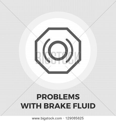 Problems with brake fluid icon vector. Flat icon isolated on the white background. Editable EPS file. Vector illustration.