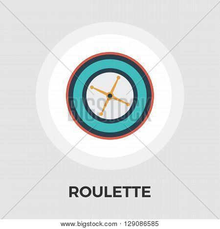 Roulette icon vector. Flat icon isolated on the white background. Editable EPS file. Vector illustration.