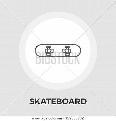 Skateboard icon vector. Flat icon isolated on the white background. Editable EPS file. Vector illustration.