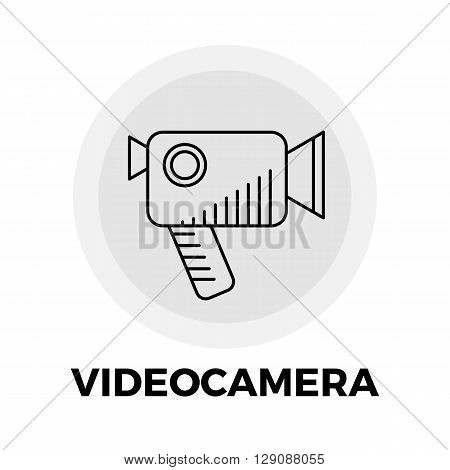 Videocamera Icon Vector. Flat icon isolated on the white background. Editable EPS file. Vector illustration.