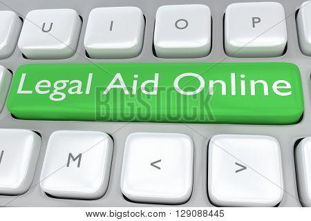 Legal Aid Online Concept
