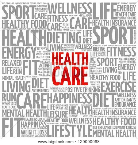 Health care word cloud background health concept