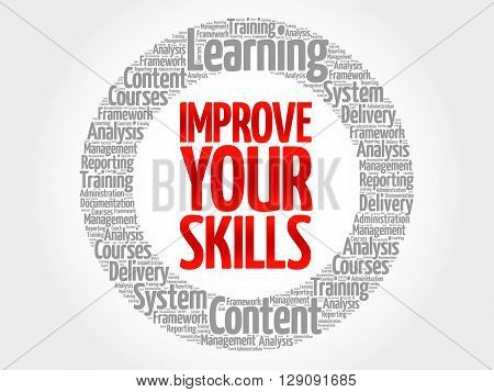 Improve Your Skills Circle Word Cloud