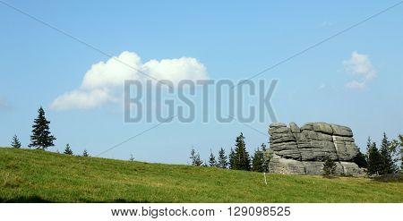 Rock formation - Karkonosze mountains in Poland