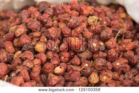 heap of Dried whole round Chillis (Dundicut)
